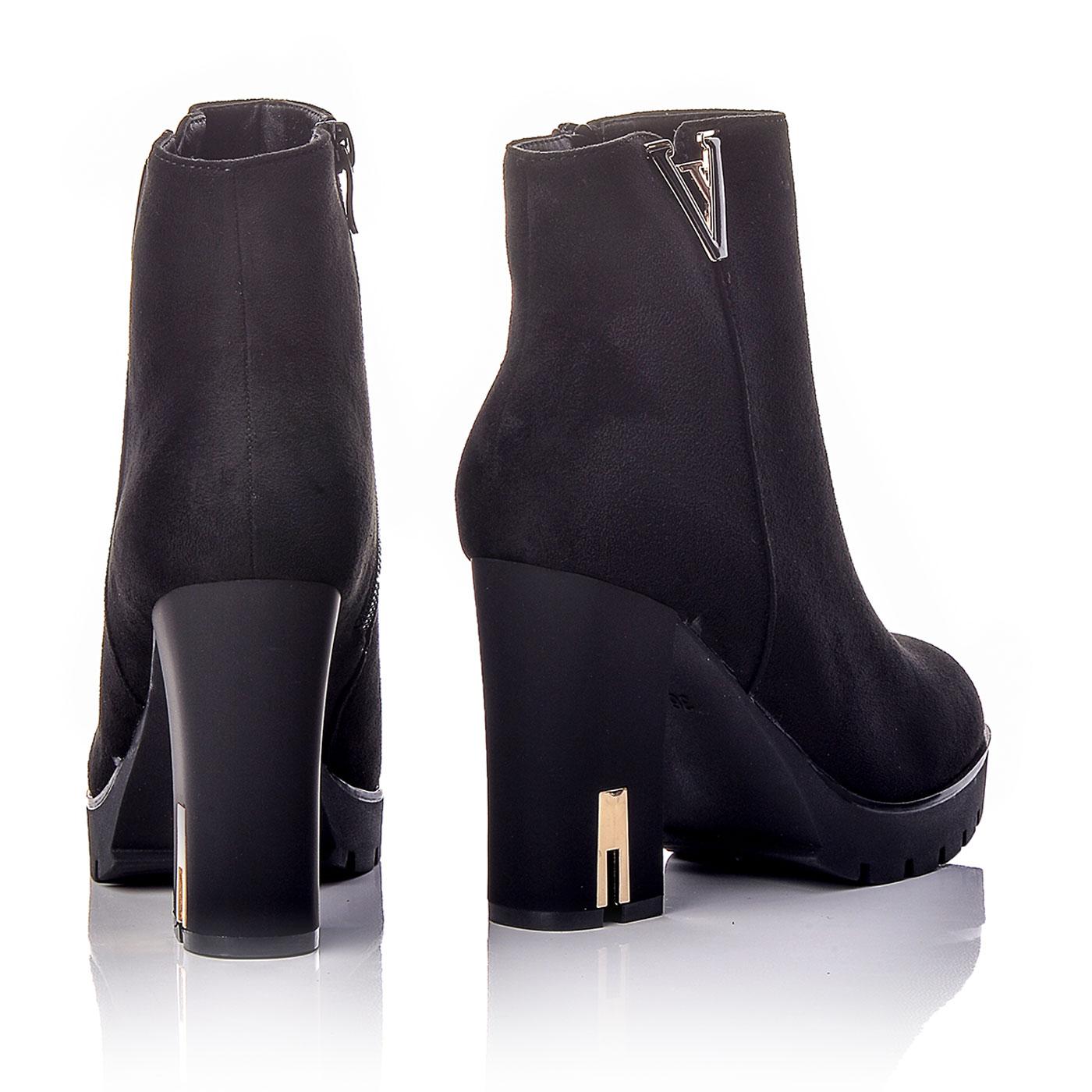 f9bb472aec5 Μποτάκια Καστόρ Μαύρα Με Ψηλό Τακούνι | BlackOut Shoes