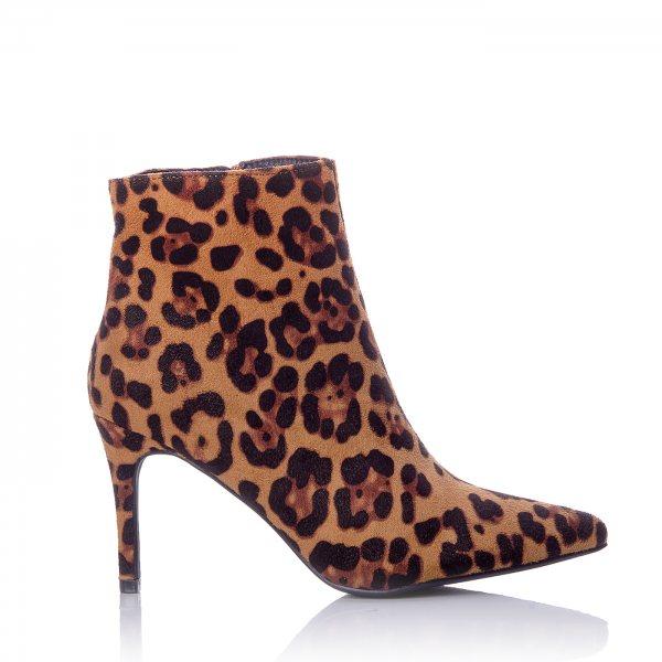 fee76ff0ab2 Βραδινά Μποτάκια Leopard Στιλέτο Τακούνι ...