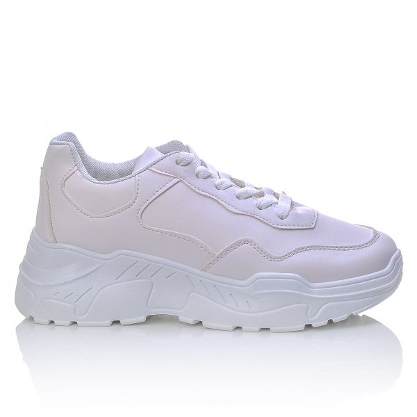 cceb48451ce Αθλητικά Sneakers Λευκά Με Ανατομική Σόλα