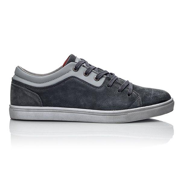 Ανδρικά γκρι sneakers από καστόρ ... 89c65bb36f4