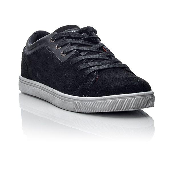 Ανδρικά Μαύρα sneakers από καστόρ Ανδρικά Μαύρα sneakers από καστόρ ... 79e4b91ad17