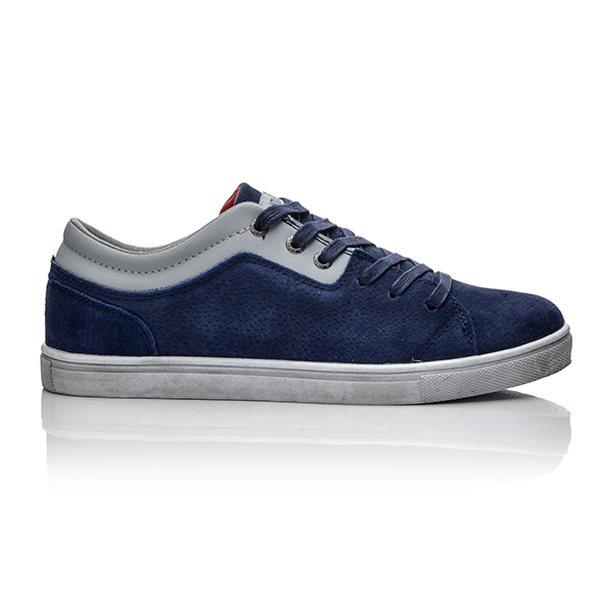 Ανδρικά Μπλε sneakers από καστόρ ... 759cd1a19f0