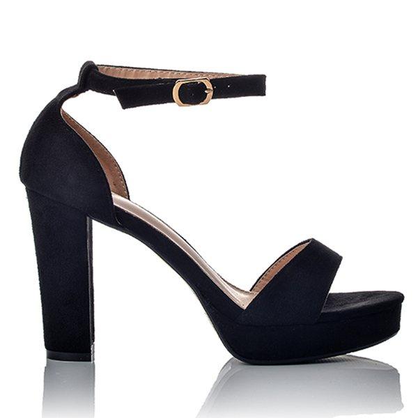 555c00ebd67 Γυναικεία Ψηλά Μαύρα Πέδιλα Suede   BlackOut Shoes