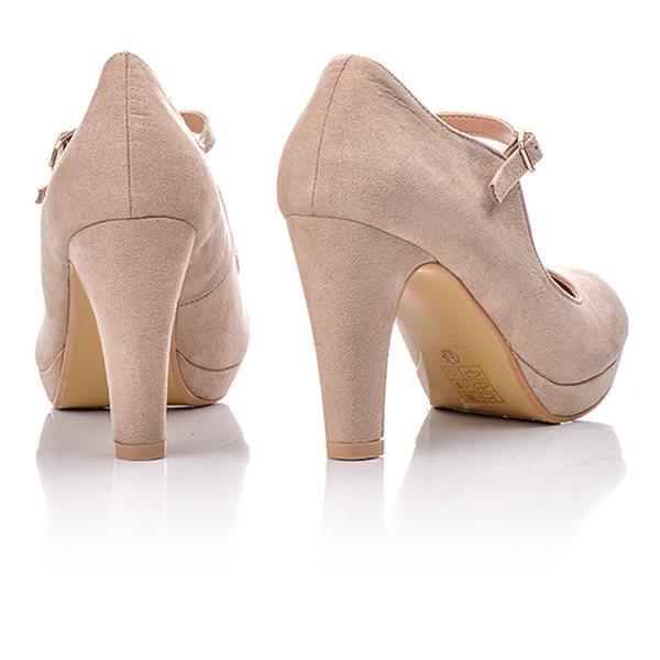62b610ae6ef Γόβες Μπεζ Καστόρ Με Λουράκι Μπροστά   BlackOut Shoes