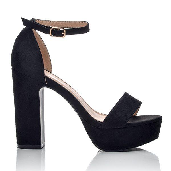 6902105c791 Γυναικεία Suede Μαύρα Πέδιλα   BlackOut Shoes