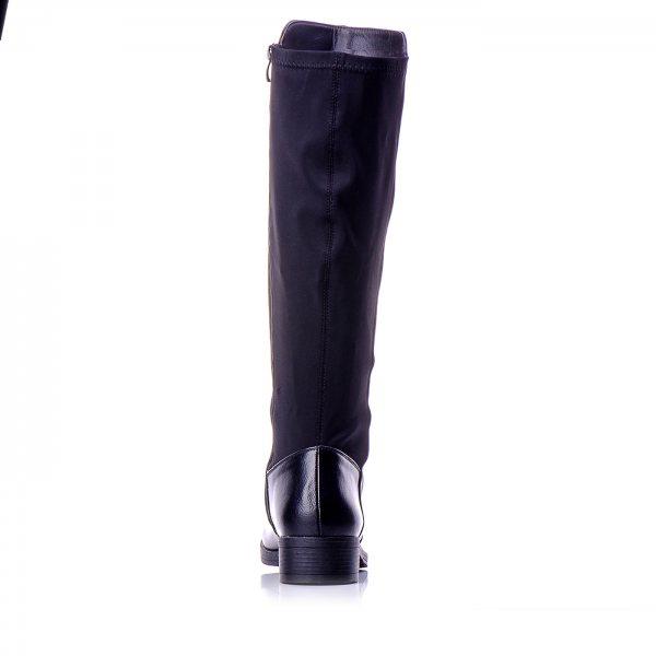 24ccee40e2f ... Μπότες Μαύρες Μέχρι Το Γόνατο Με Λάστιχο Πίσω ...